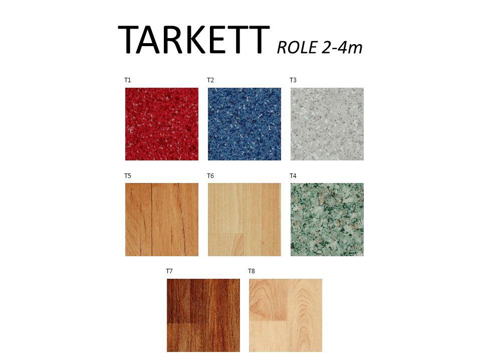 TARKETT ROLE 2-4m T1 T2 T3 T5 T6 T4 T7 T8