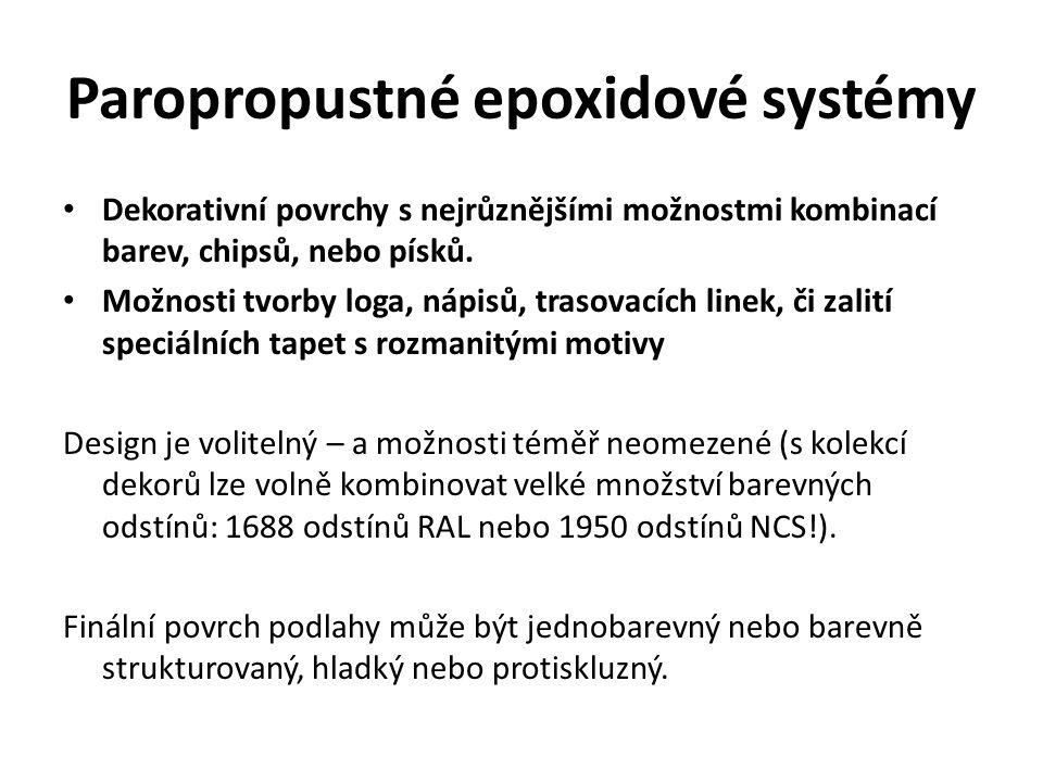 Paropropustné epoxidové systémy