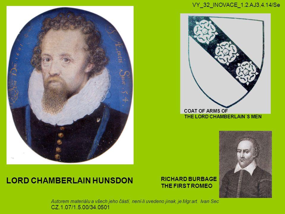 LORD CHAMBERLAIN HUNSDON
