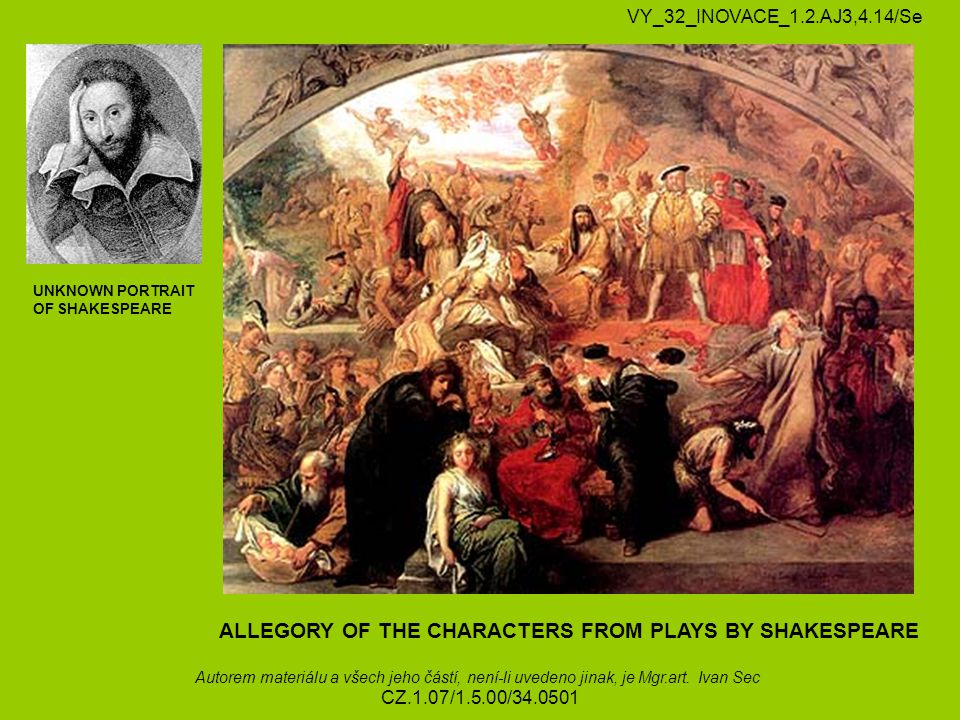 ALLEGORY OF THE CHARACTERS FROM PLAYS BY SHAKESPEARE