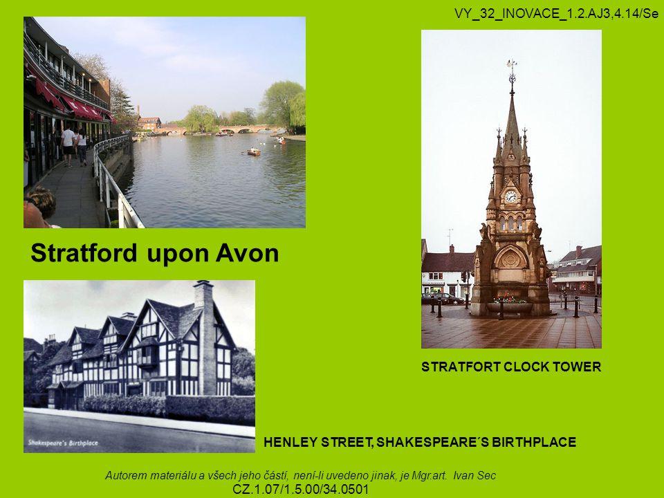 Stratford upon Avon VY_32_INOVACE_1.2.AJ3,4.14/Se