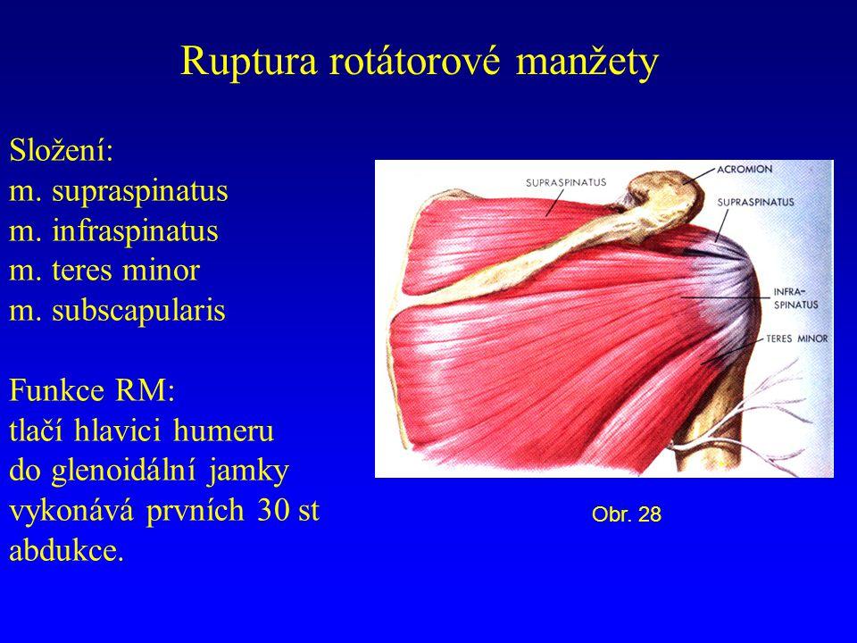 Ruptura rotátorové manžety