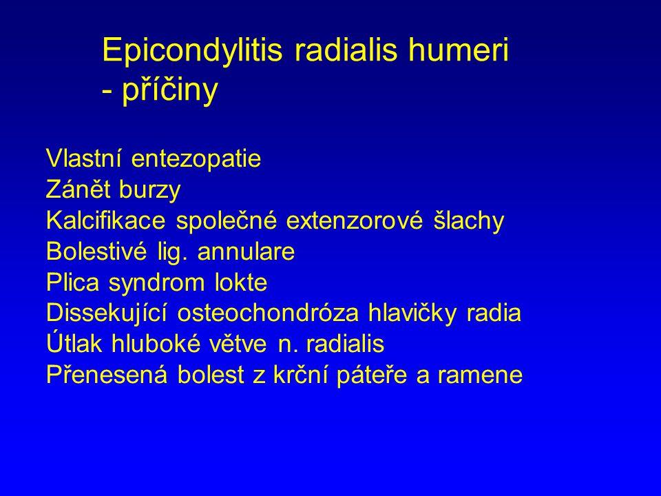 Epicondylitis radialis humeri - příčiny