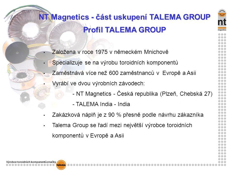 NT Magnetics - část uskupení TALEMA GROUP