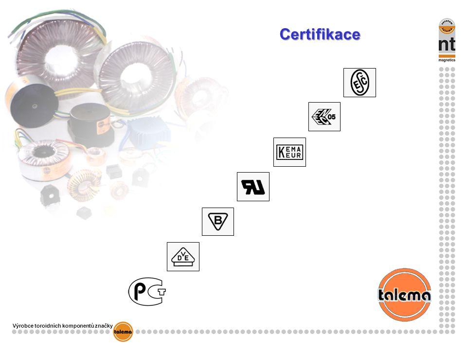 Výrobce toroidních komponentů značky