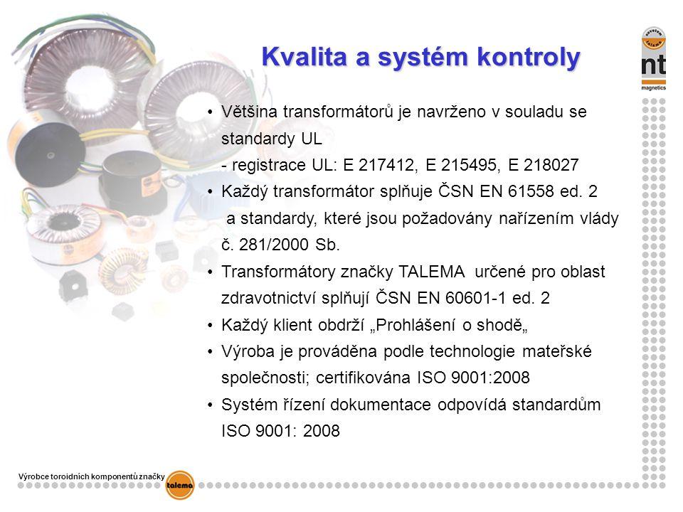 Kvalita a systém kontroly