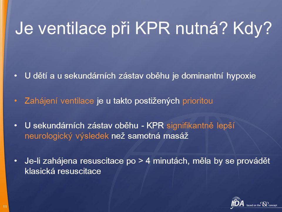 Je ventilace při KPR nutná Kdy