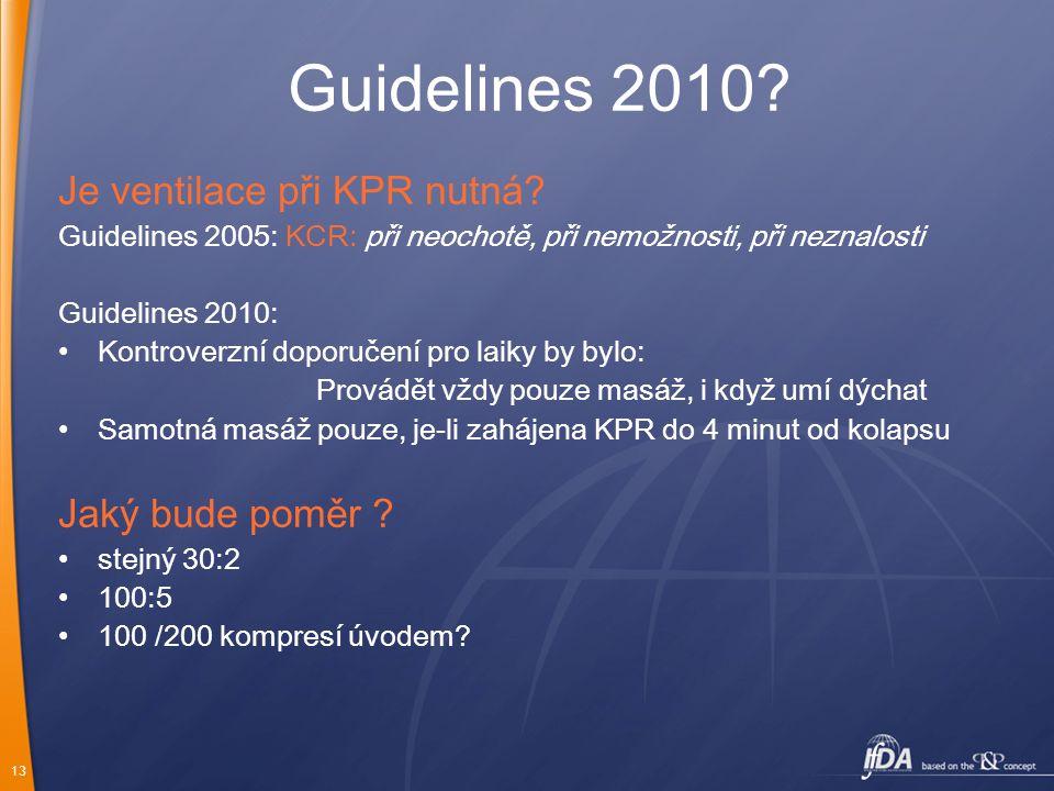 Guidelines 2010 Je ventilace při KPR nutná Jaký bude poměr