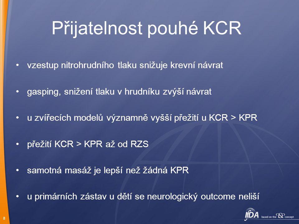 Přijatelnost pouhé KCR