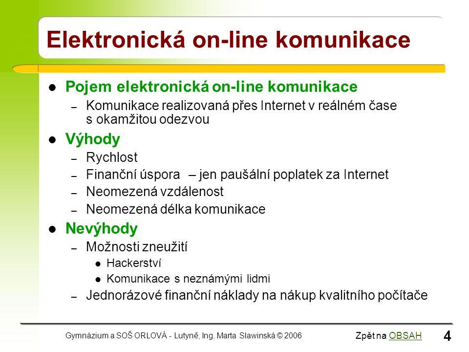 Elektronická on-line komunikace