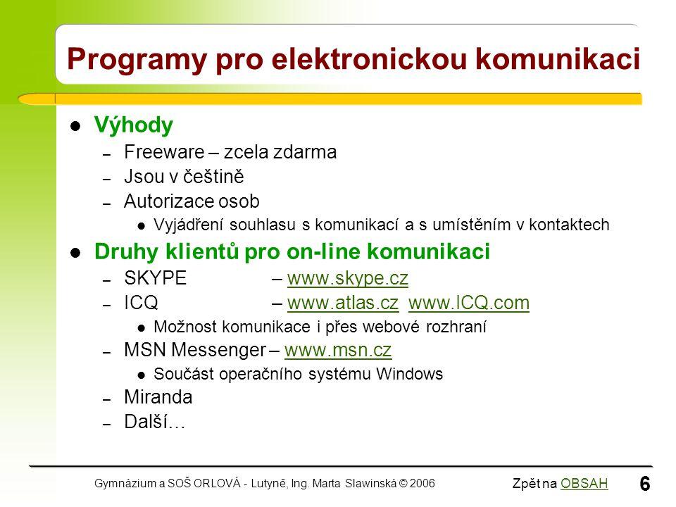 Programy pro elektronickou komunikaci