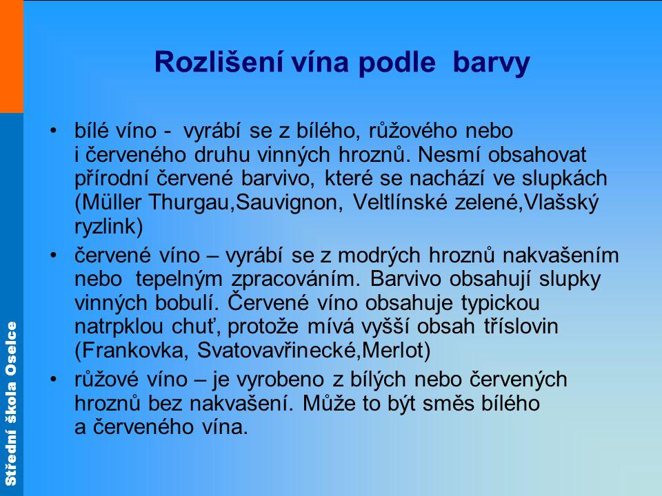Rozlišení vína podle barvy