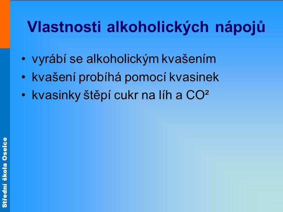 Vlastnosti alkoholických nápojů