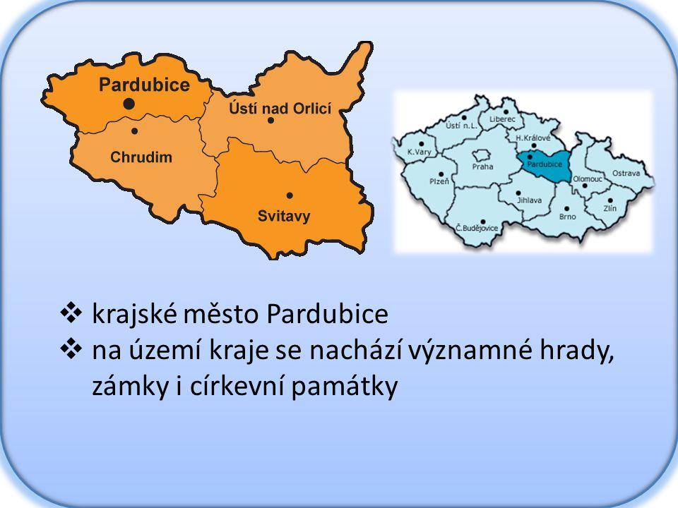 krajské město Pardubice