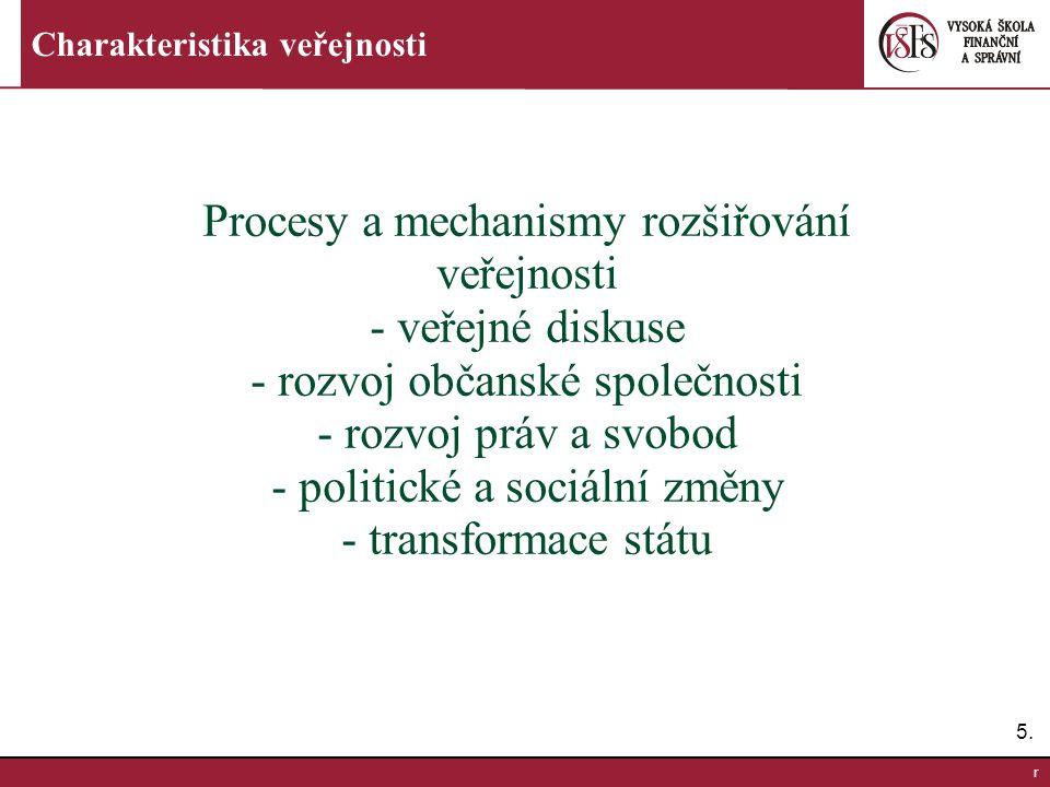 Procesy a mechanismy rozšiřování veřejnosti - veřejné diskuse