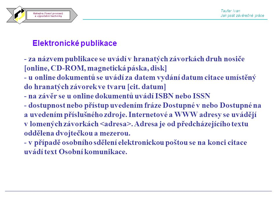 Elektronické publikace