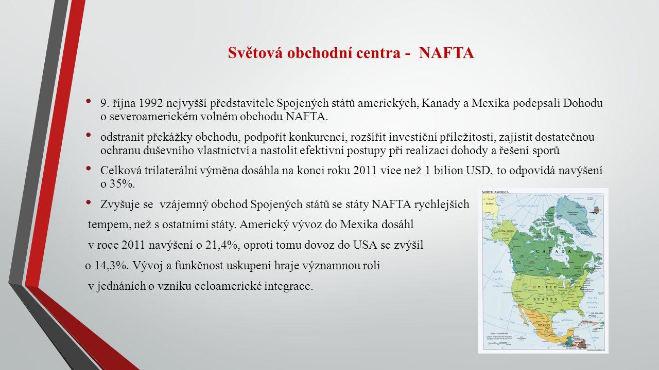 Světová obchodní centra - NAFTA