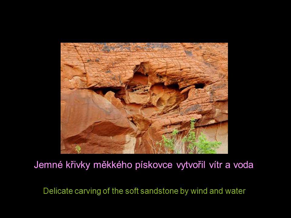 Jemné křivky měkkého pískovce vytvořil vítr a voda