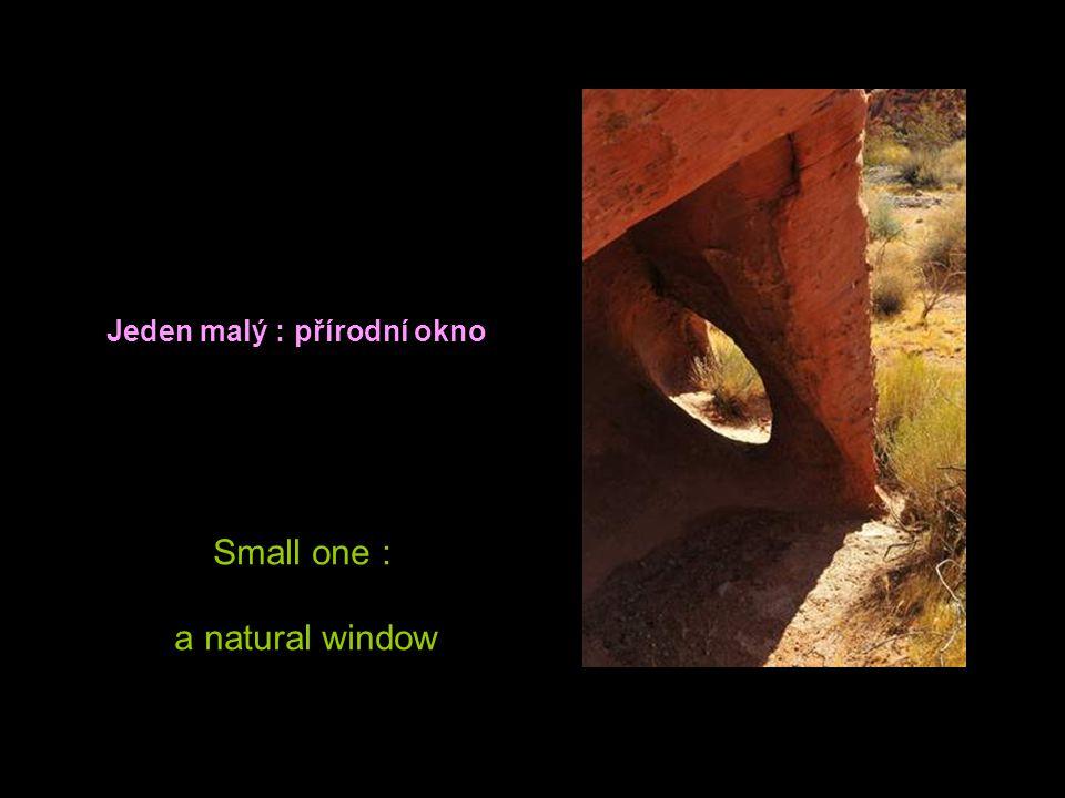 Jeden malý : přírodní okno