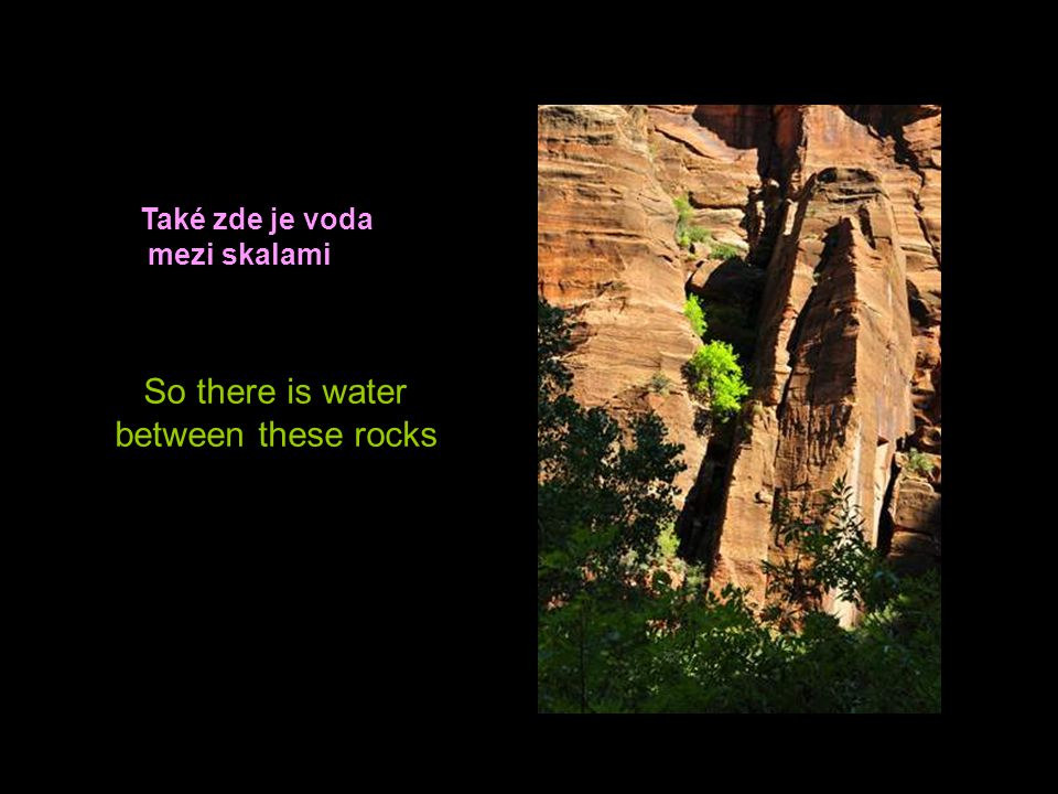Také zde je voda mezi skalami So there is water between these rocks