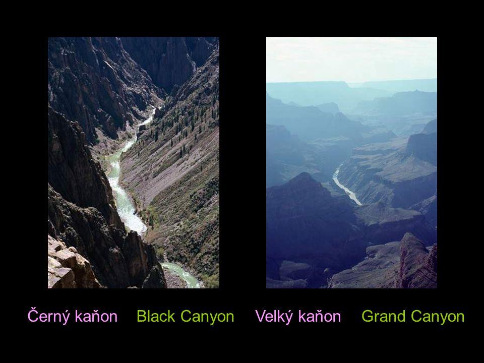 Černý kaňon Black Canyon Velký kaňon Grand Canyon