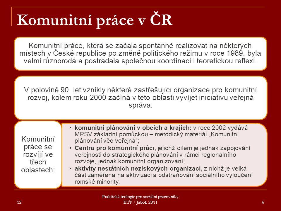 Komunitní práce v ČR