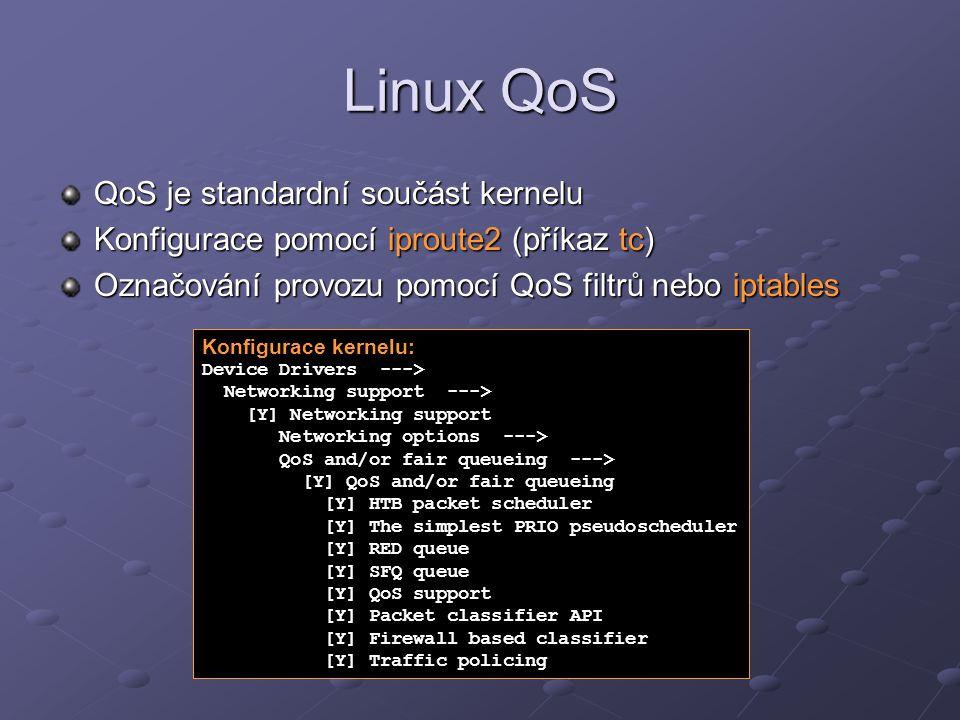 Linux QoS QoS je standardní součást kernelu