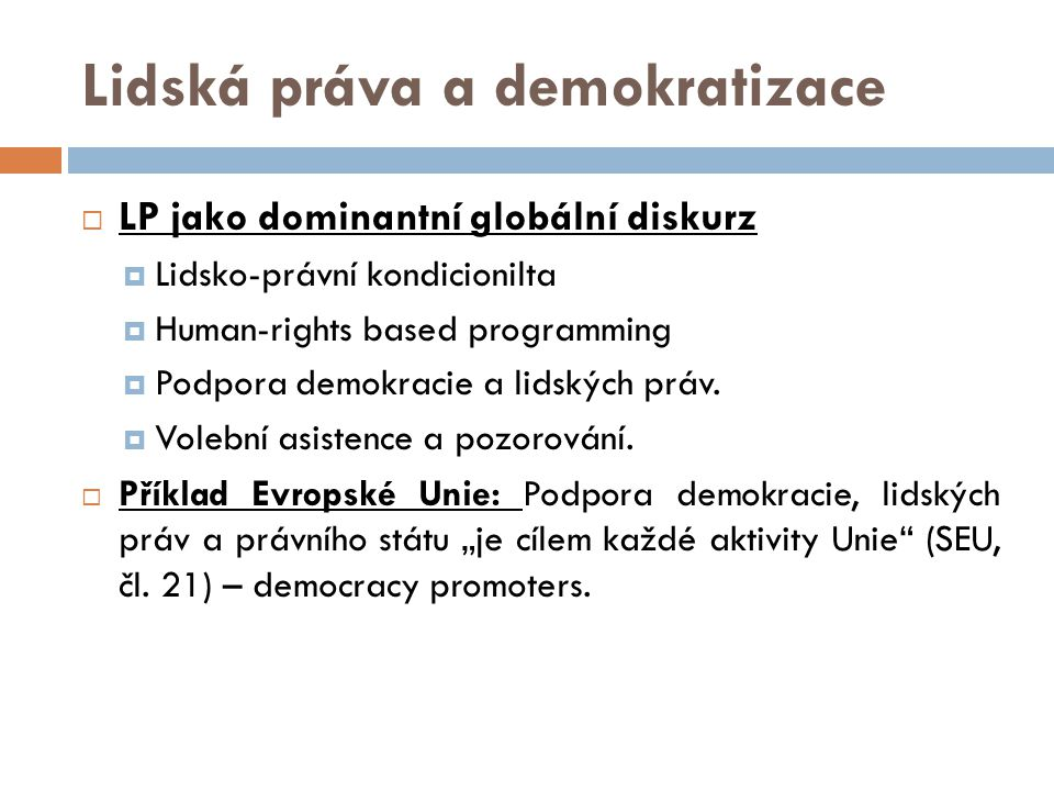 Lidská práva a demokratizace