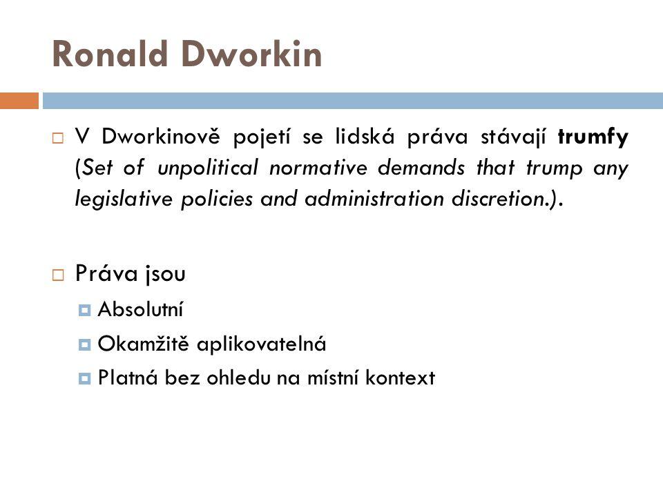 Ronald Dworkin Práva jsou