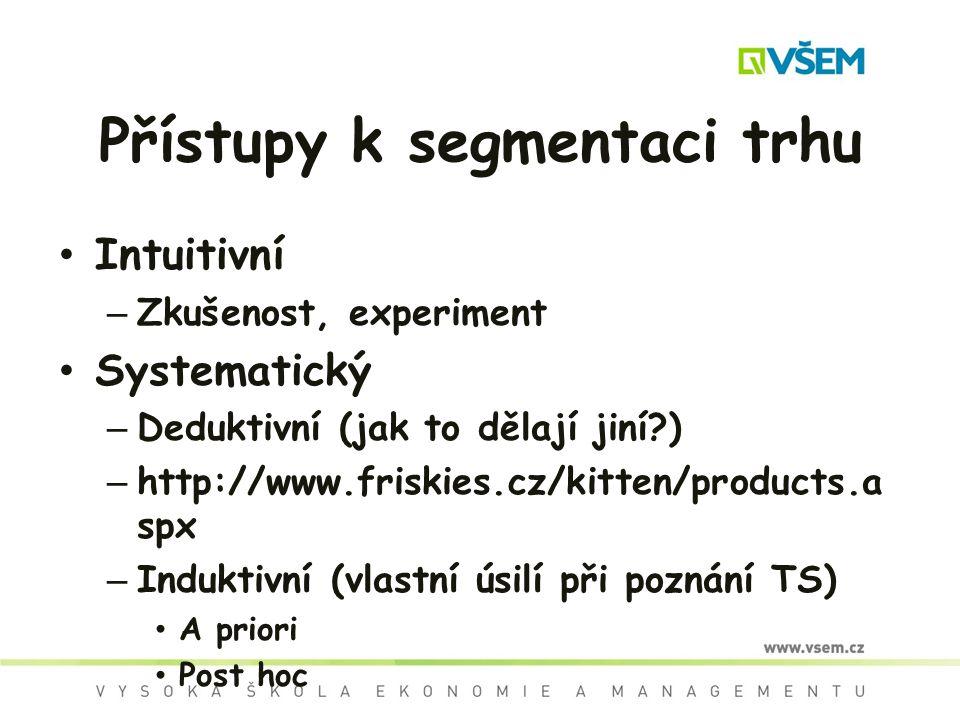 Přístupy k segmentaci trhu