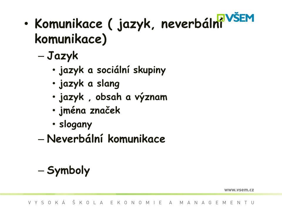 Komunikace ( jazyk, neverbální komunikace)