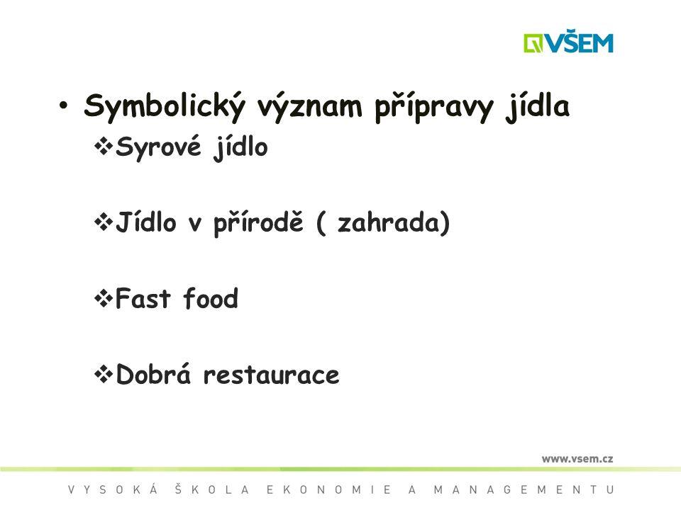 Symbolický význam přípravy jídla