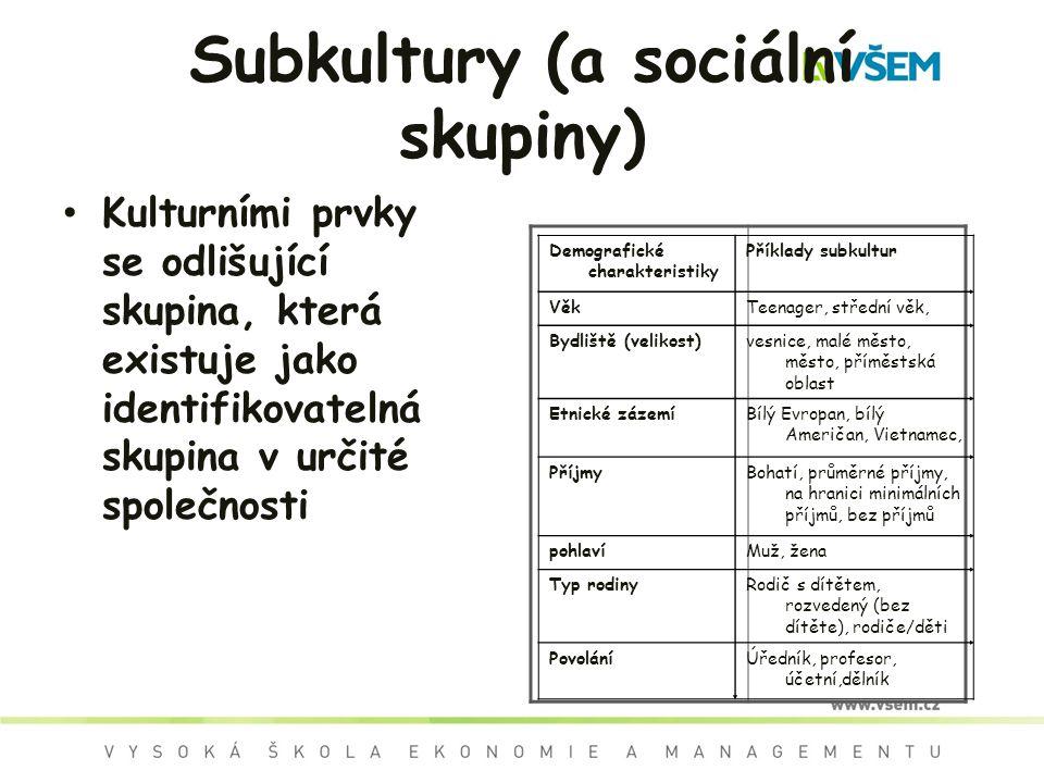 Subkultury (a sociální skupiny)