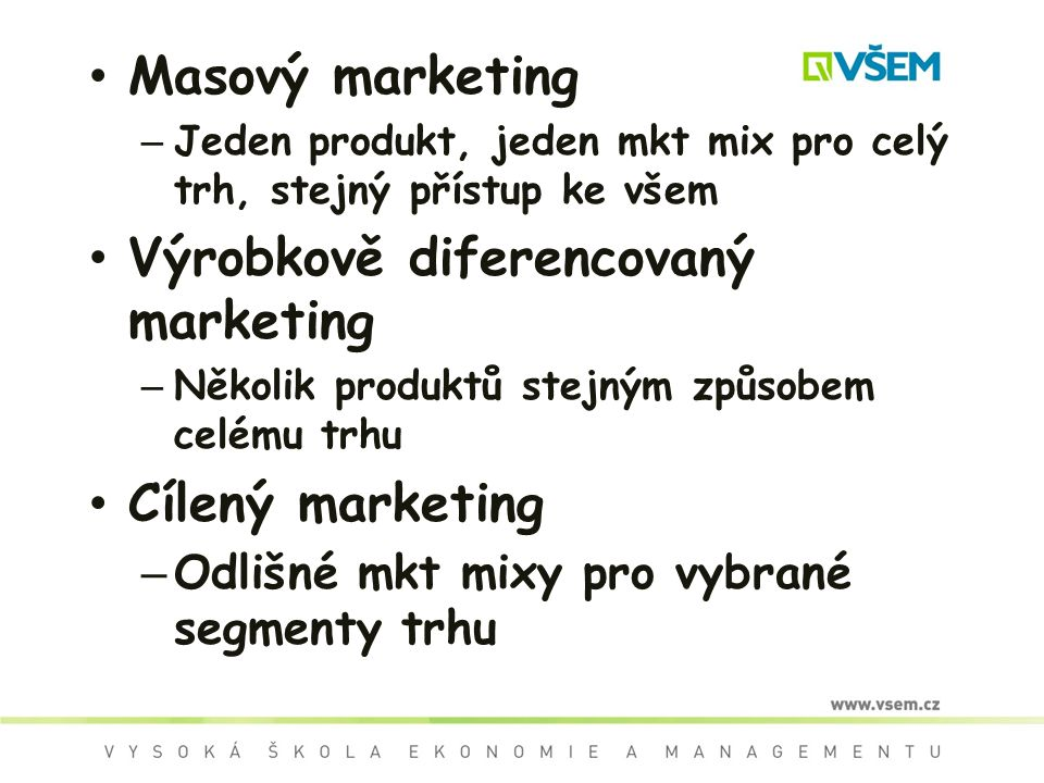 Výrobkově diferencovaný marketing