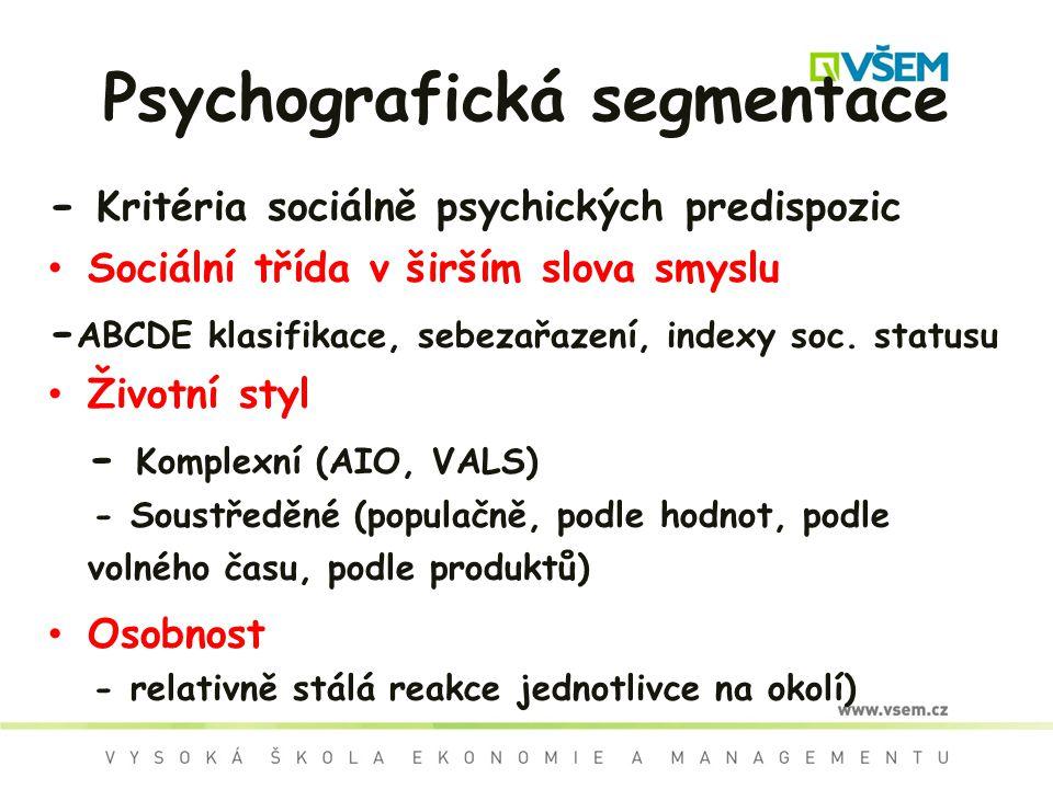 Psychografická segmentace