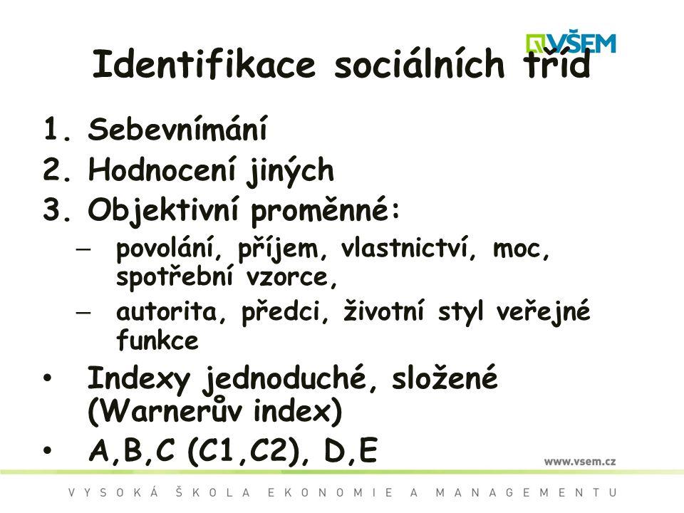 Identifikace sociálních tříd