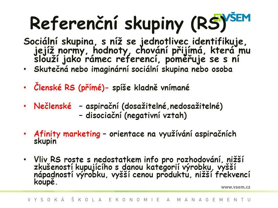 Referenční skupiny (RS)
