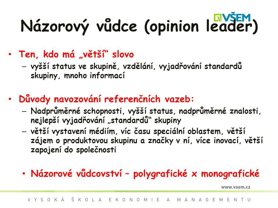 Názorový vůdce (opinion leader)