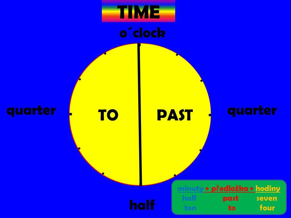 minuty + předložka + hodiny