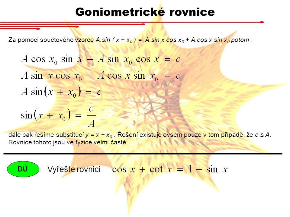 Goniometrické rovnice