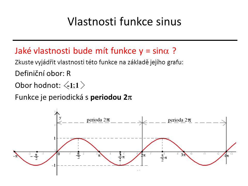 Vlastnosti funkce sinus