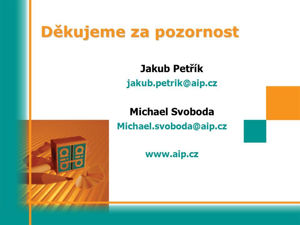 Děkujeme za pozornost Jakub Petřík Michael Svoboda jakub.petrik@aip.cz