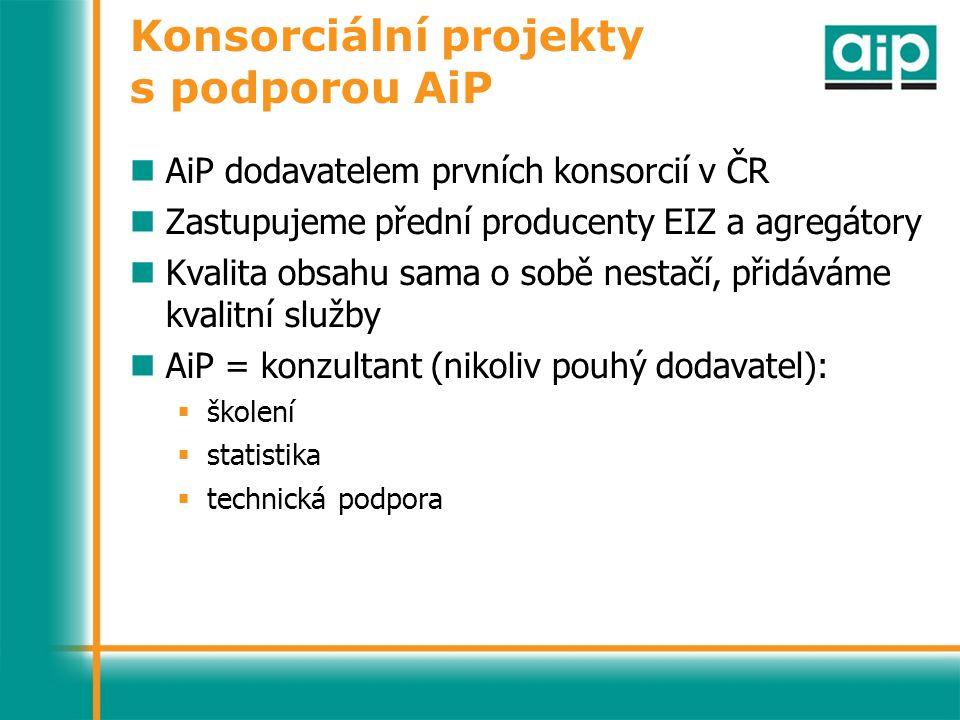 Konsorciální projekty s podporou AiP