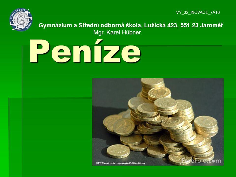 Peníze Gymnázium a Střední odborná škola, Lužická 423, 551 23 Jaroměř