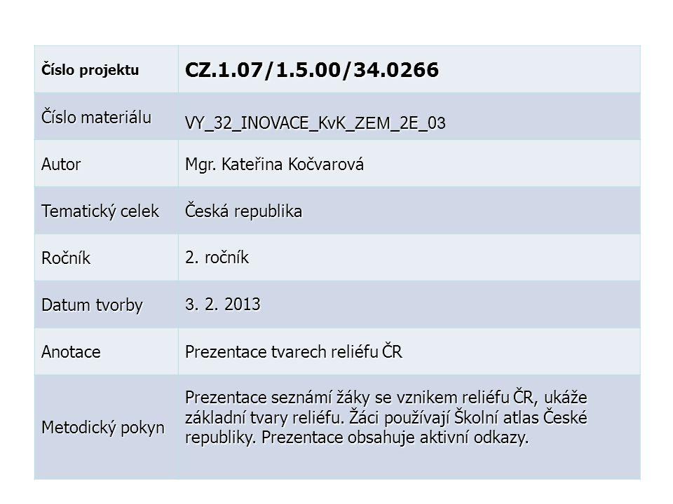 CZ.1.07/1.5.00/34.0266 Číslo materiálu VY_32_INOVACE_KvK_ZEM_2E_03