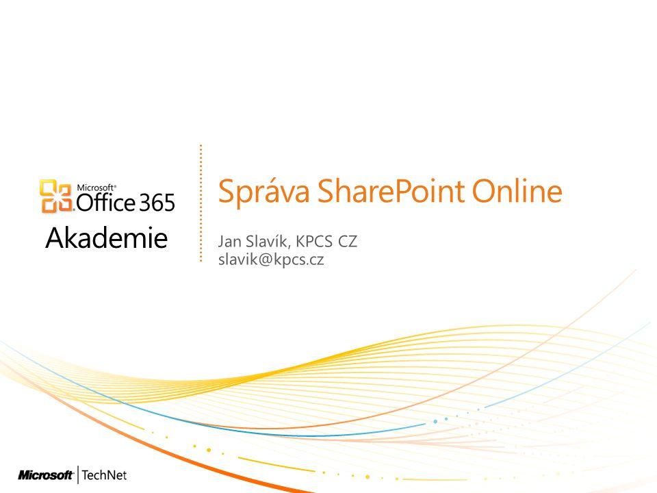 Správa SharePoint Online