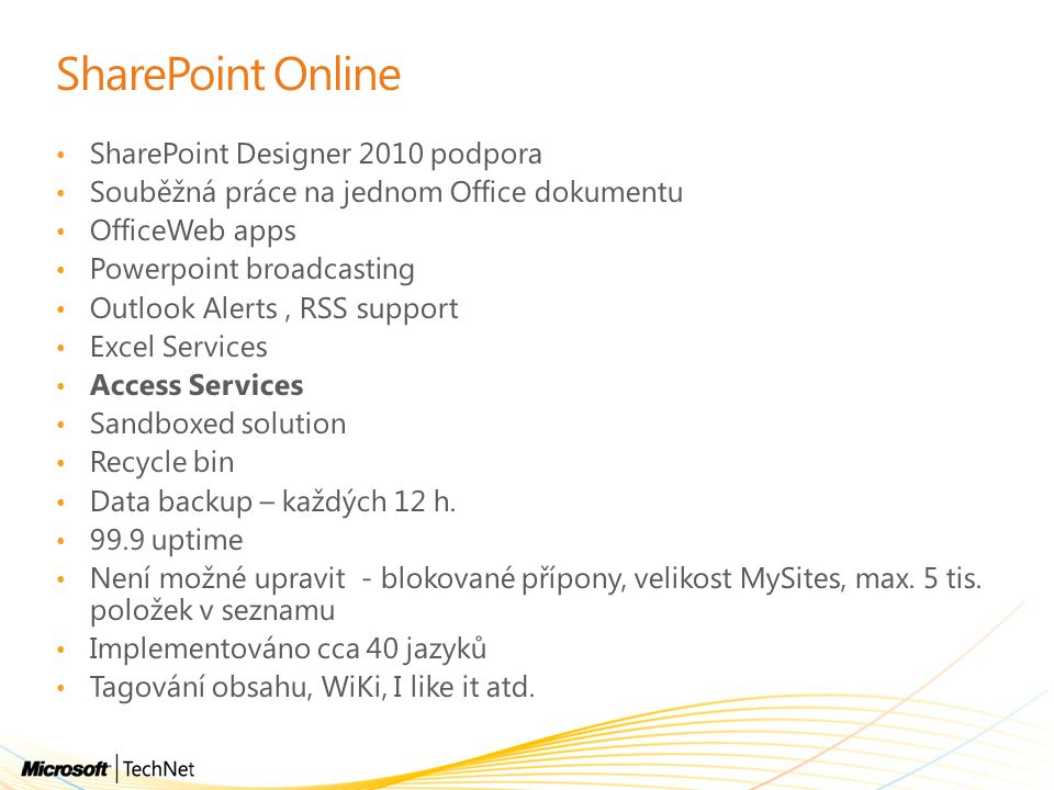 SharePoint Online SharePoint Designer 2010 podpora