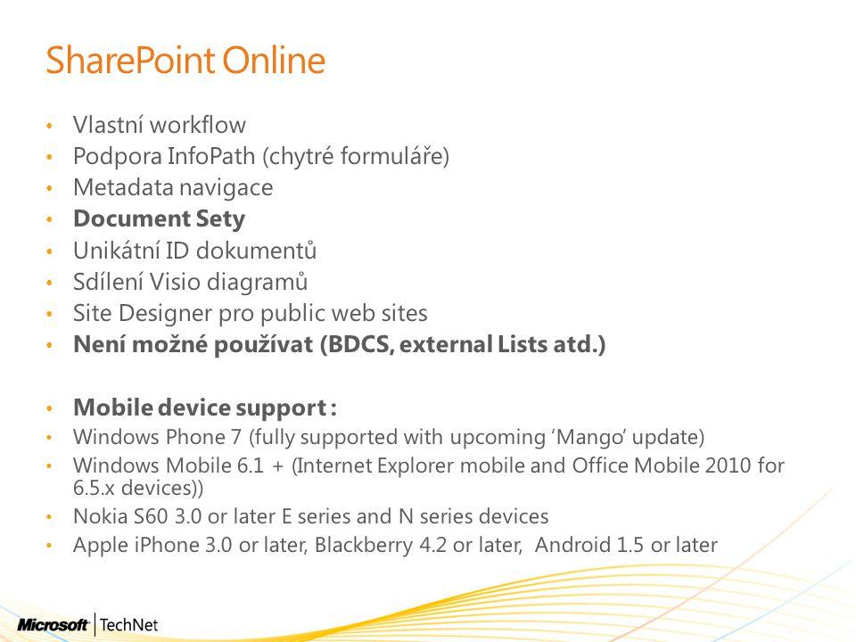 SharePoint Online Vlastní workflow Podpora InfoPath (chytré formuláře)