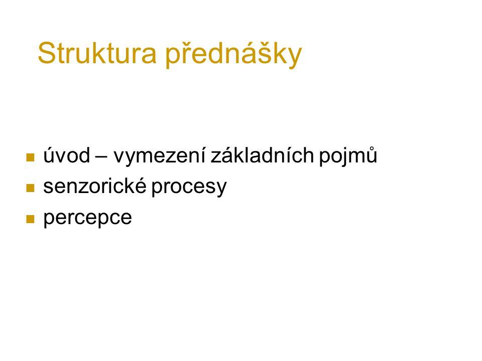 Struktura přednášky úvod – vymezení základních pojmů