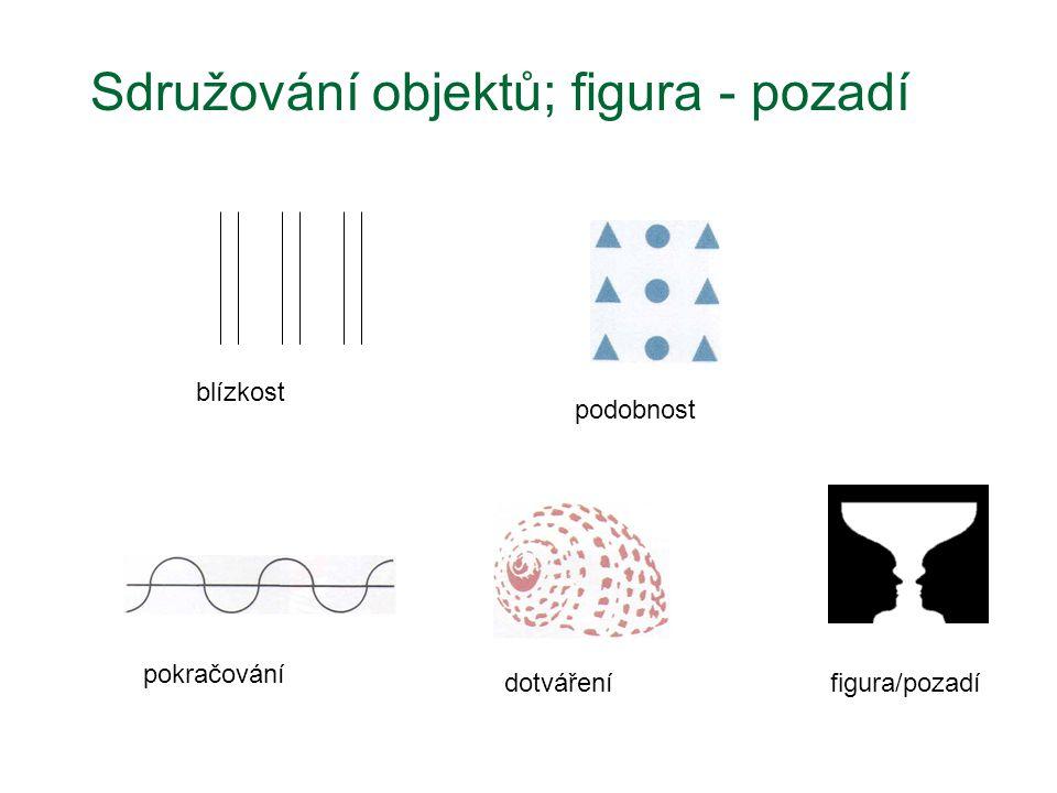 Sdružování objektů; figura - pozadí